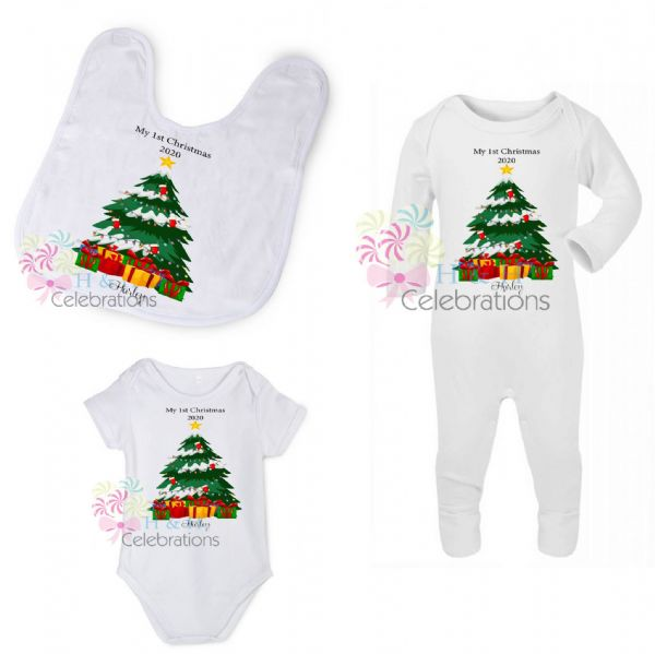 My 1st Christmas Tree & Presents Personalised Gift Set